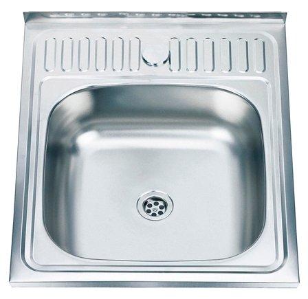 Накладная кухонная мойка Ledeme L65060 50х60см нержавеющая сталь