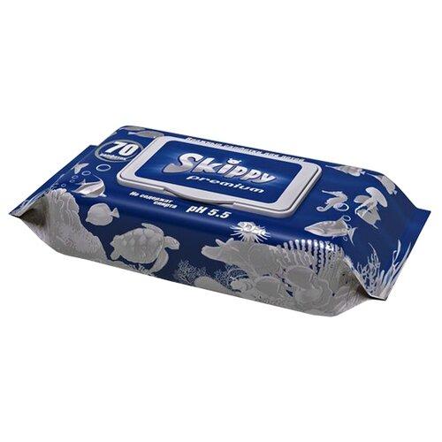 Влажные салфетки Skippy Premium пластиковая крышка 70 шт.