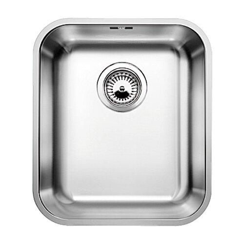 Фото - Врезная кухонная мойка 37 см Blanco Supra 340-U нержавеющая сталь/полированная кухонная мойка blanco supra 450 u 518203
