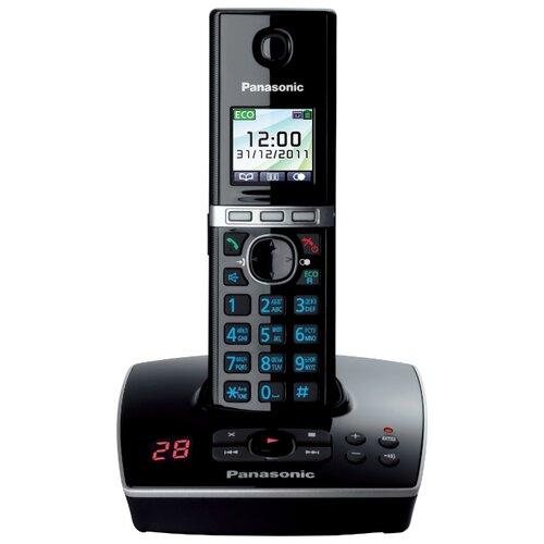 Радиотелефон Panasonic KX-TG8061 черный радиотелефон dect panasonic kx tgc310ru1 черный
