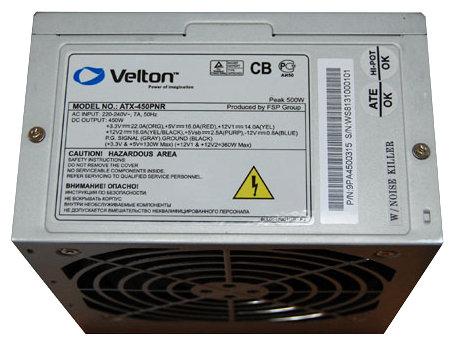 Блок питания Velton ATX-450PNR 450W — купить по выгодной цене на Яндекс.Маркете