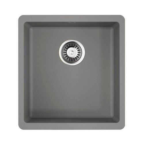 Врезная кухонная мойка 40 см OMOIKIRI Kata 40-U 4993397 ленинградский серый