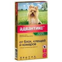 Bayer Адвантикс 40 Капли от Блох/Клещей для собак до 4кг 4 пипетки(13269)