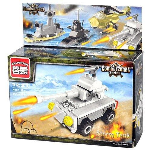 Конструктор Qman CombatZones 1221 Танк на штурме конструктор qman combatzones 1712 военная база