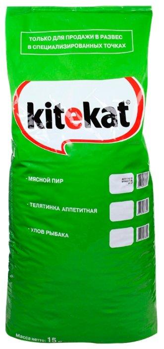Kitekat (15 кг) Сухой корм Мясной Пир