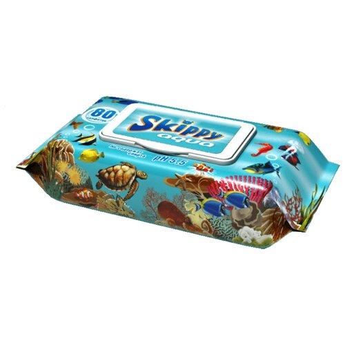 Купить Влажные салфетки Skippy Aqua 80 шт.