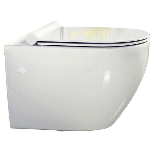 Чаша унитаза подвесная BelBagno Sfera-R (подвесной, без сиденья) с горизонтальным выпуском