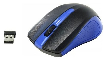 Мышь OKLICK 485MW Black-Blue USB