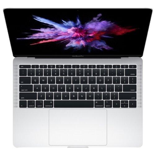 "Ноутбук Apple MacBook Pro 13 with Retina display Mid 2017 (Intel Core i5 2300 MHz/13. 3""/2560x1600 /8GB/256GB  SSD/DVD нет/Intel Iris Plus Graphics 640/Wi-Fi/Bluetoo th/macOS)  MPXU2RU/A серебристый"