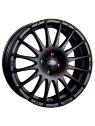 Литой диск OZ SUPERTURISMO GT 7x16 5x115 ET35.0 D70.2 BLACK+RED LETTERING - фото 1
