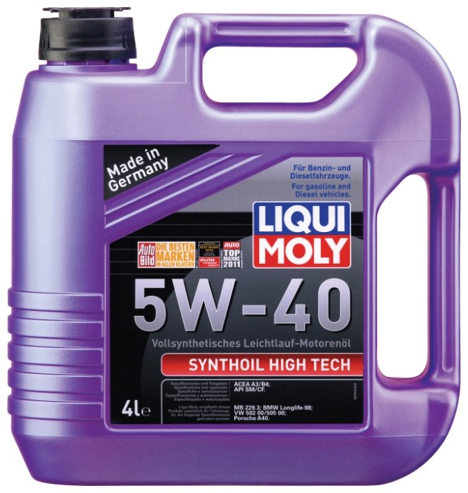 Моторное масло LIQUI MOLY Synthoil High Tech 5W-40 4 л
