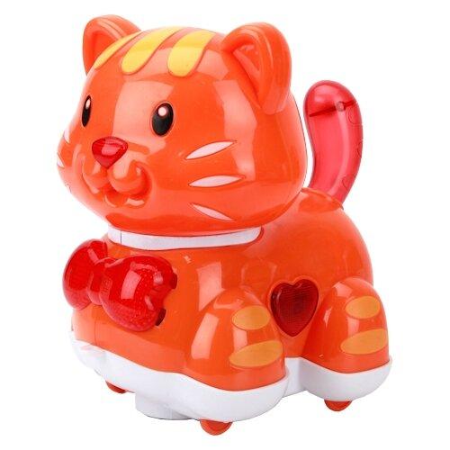 Купить Каталка-игрушка Умка Кошка (B1054871-R) со звуковыми эффектами оранжевый, Каталки и качалки