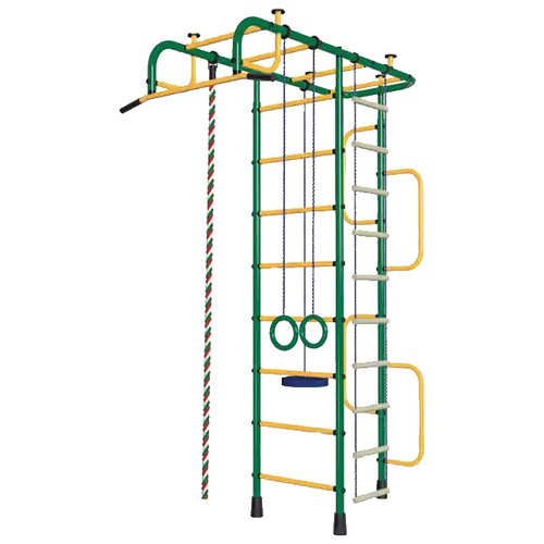Спортивно-игровой комплекс Пионер 3М, зеленый/желтый