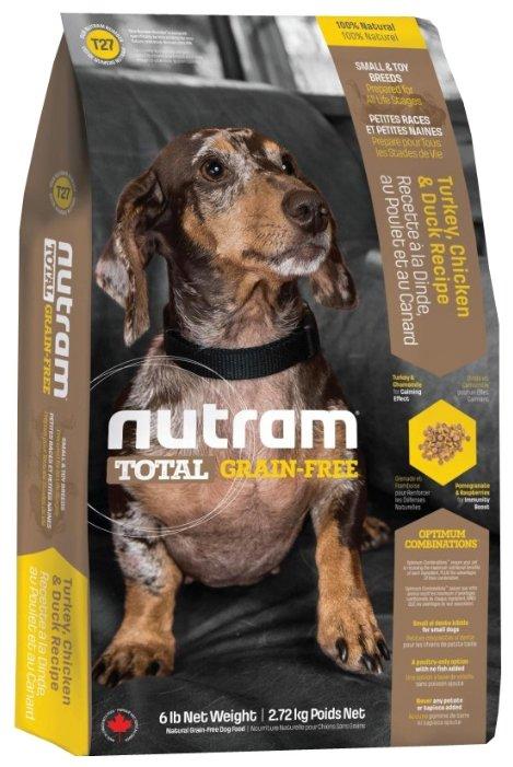Корм для собак Nutram T27 Индейка, курица и утка для собак мелких пород