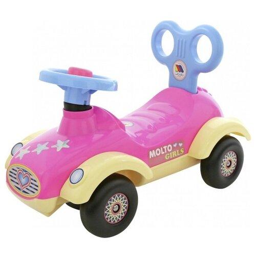 Купить Каталка-толокар Molto Сабрина (7970) со звуковыми эффектами розовый, Каталки и качалки