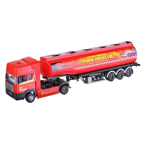 Автоцистерна Autogrand Junior Motors Tanker Truck бензовоз (34078) 1:48 30 см красный