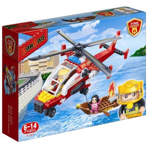 Купить Конструктор BanBao Пожарные 7107 Вертолет спасателей, Конструкторы
