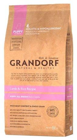 Grandorf Ягнёнок с рисом Щенки (3 кг)