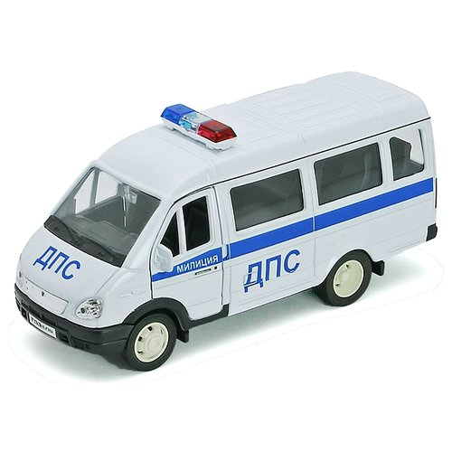Микроавтобус Welly ГАЗель Милиция ДПС (42387APB), белый/синий