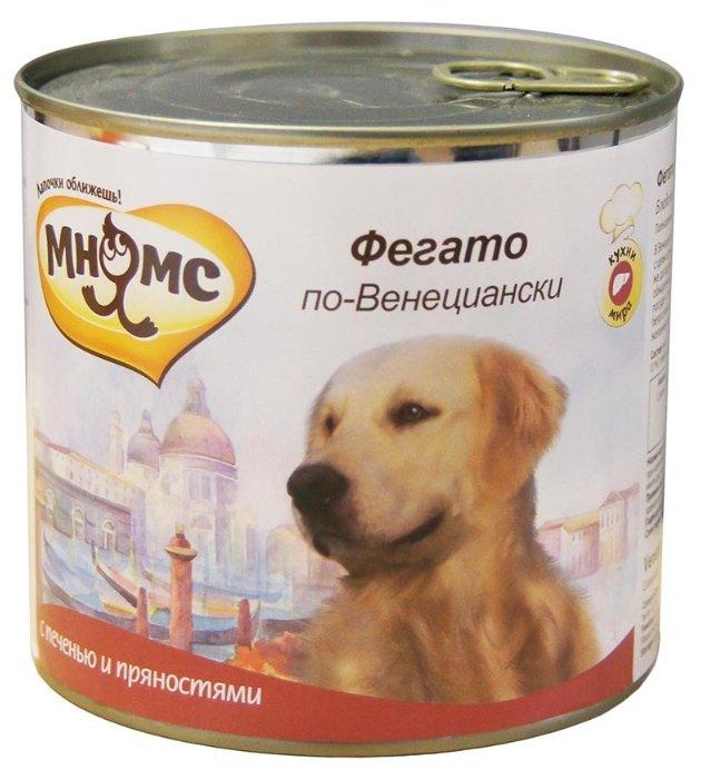 Корм для собак Мнямс Фегато по-венециански печень 3шт. х 600г (для крупных пород)