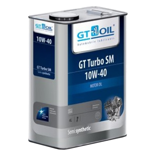 Моторное масло GT OIL GT Turbo SM 10W-40 4 л Моторные масла