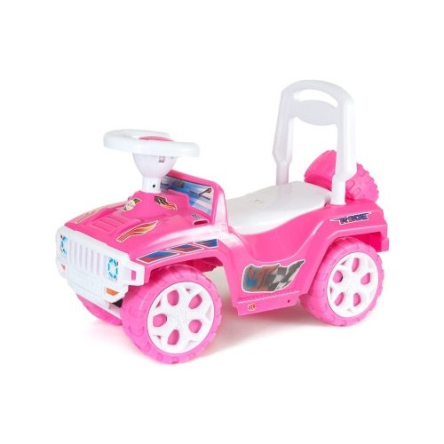 Купить Каталка-толокар Orion Toys Ориончик (419) со звуковыми эффектами розовый, Каталки и качалки