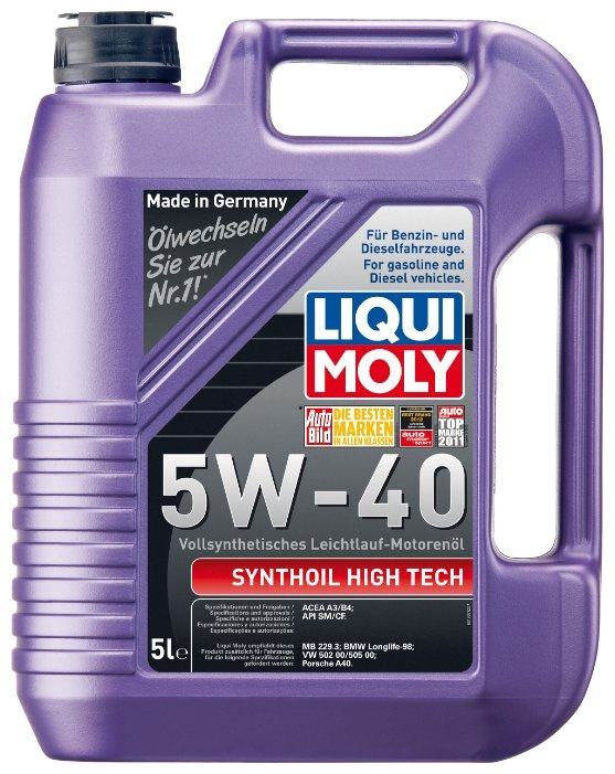 Моторное масло LIQUI MOLY Synthoil High Tech 5W-40 5 л