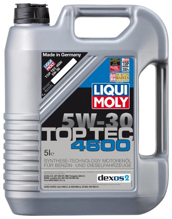 Моторное масло LIQUI MOLY Top Tec 4600 5W-30 5 л