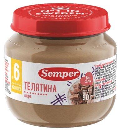 Пюре Semper телятина (с 6 месяцев) 90 г