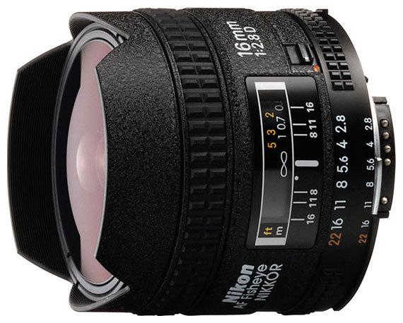 Объектив Nikon 16mm f/2.8D AF Fisheye-Nikkor