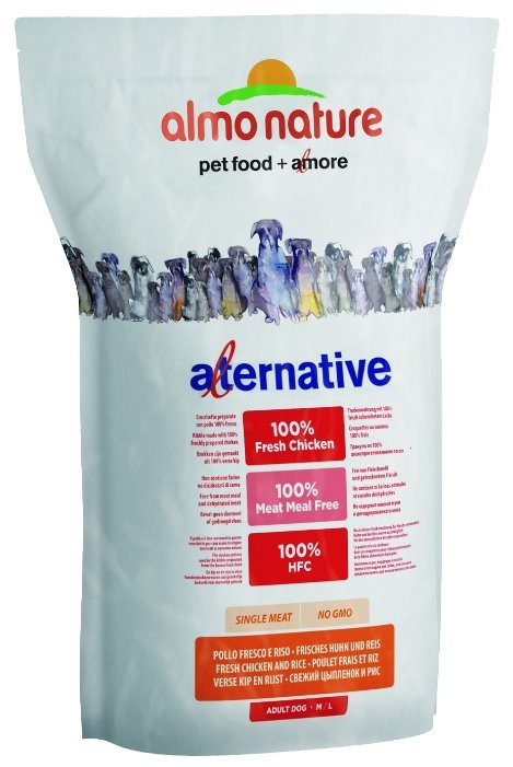 Корм для собак Almo Nature Alternative Fresh Chicken and Rice M-L