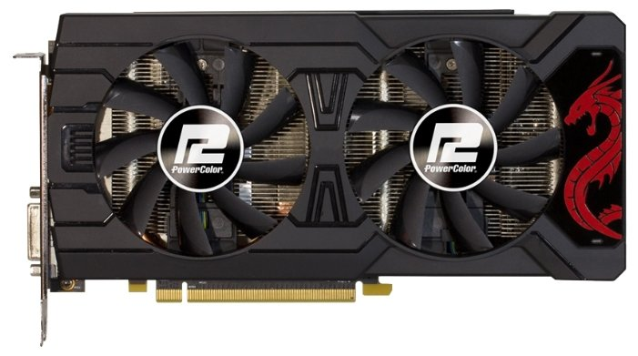 PowerColor Видеокарта PowerColor Radeon RX 570 1250Mhz PCI-E 3.0 4096Mb 7000Mhz 256 bit DVI HDMI HDCP Red Dragon