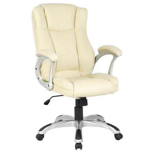 цена Компьютерное кресло College H-0631-1, обивка: искусственная кожа, цвет: слоновая кость онлайн в 2017 году