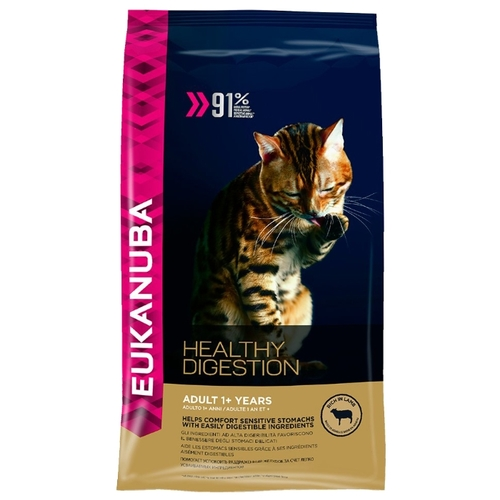 Корм для кошек Eukanuba (2 кг) Adult Dry Cat Food Healthy Digestion Lamb & Liver