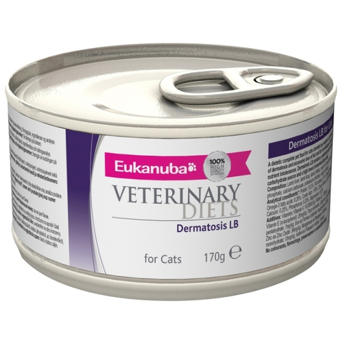 Корм для кошек Eukanuba Veterinary Diets Dermatosis LB for Cats (0.17 кг) 12 шт.
