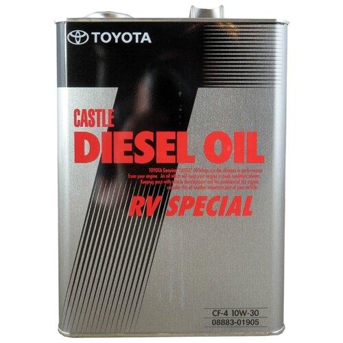 Минеральное моторное масло TOYOTA Castle Diesel Oil RV Special CF-4 10W-30 4 л минеральное моторное масло mobis classic gold diesel 10w 30 4 л