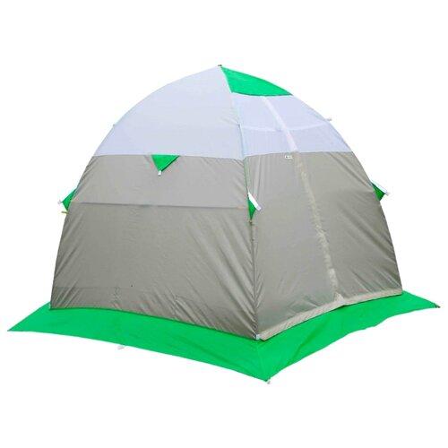 Палатка ЛОТОС 3 для рыбалки серый/зеленый