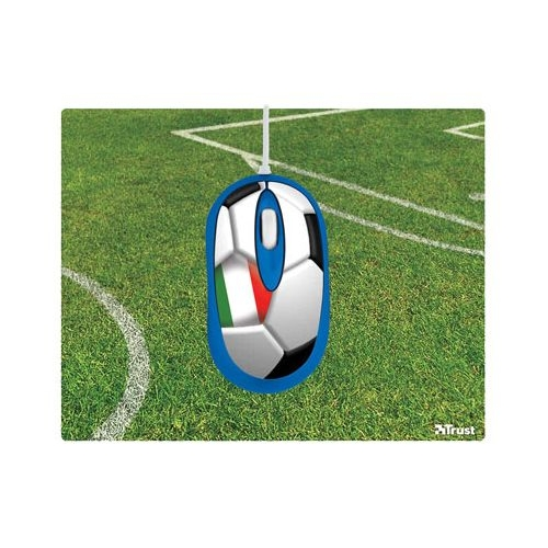 Мышь Trust Football Mouse with Mousepad Italia USB