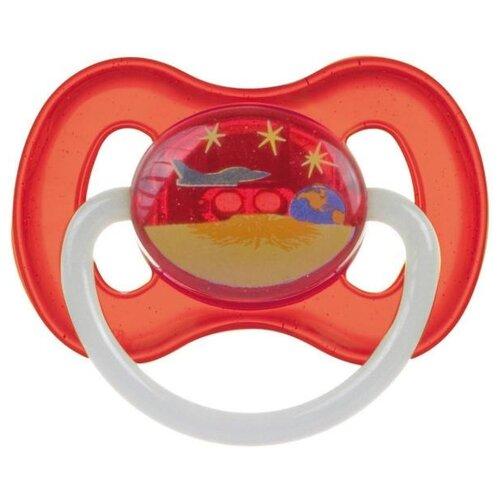 Купить Пустышка латексная классическая Canpol Babies Space 0-6 м (1 шт) красный, Пустышки и аксессуары