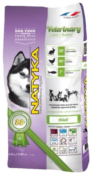Корм для собак Natyka Veterinary Rabbit (4.5 кг) 3 шт.