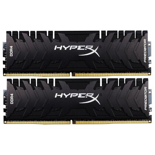 Оперативная память HyperX Predator DDR4 3333 (PC 26600) DIMM 288 pin, 8 ГБ 2 шт. 1.35 В, CL 16, HX433C16PB3K2/16