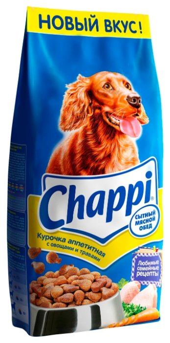 Chappi (15 кг) Сухой корм Курочка аппетитная с овощами и травами
