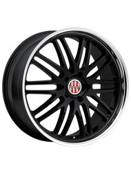 Колесный диск Victor LeMans 9.5x18/5x130 D71.1 ET49 Gloss Black Mirror Cut Lip - фото 1