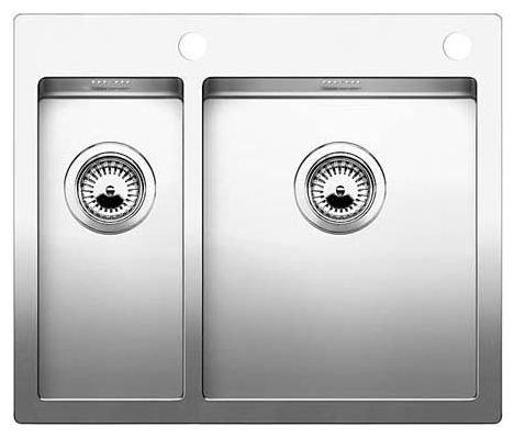 Интегрированная кухонная мойка Blanco Claron 340/180-IF 60.5х51см нержавеющая сталь