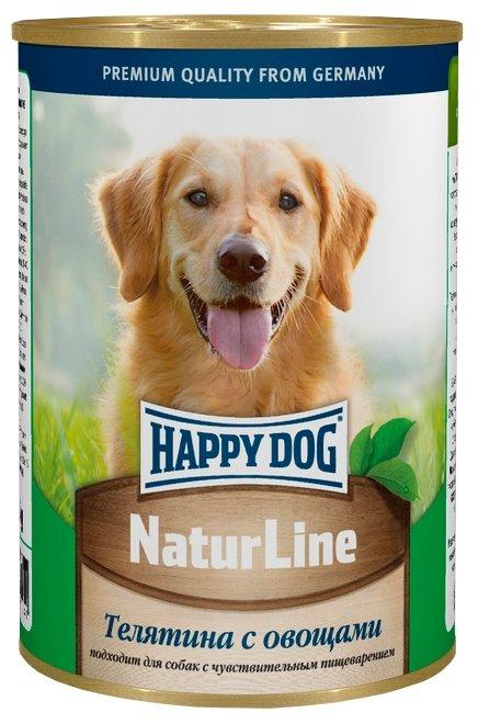 Корм для собак Happy Dog NaturLine для взрослых собак. Телятина с овощами