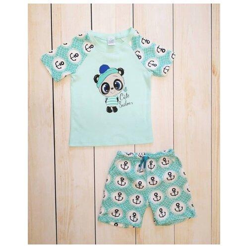Комплект одежды Mivilini размер 104, лазурный