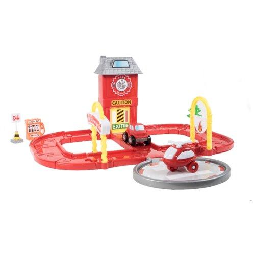 Купить Orion Toys Пожарная часть 861 красный/желтый/серый, Детские парковки и гаражи