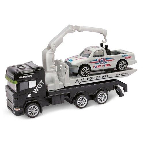 Купить Набор машин Пламенный мотор 870520 12 см черный/белый, Машинки и техника