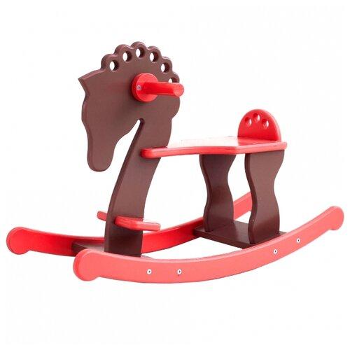 Качалка SunnyWoods лошадка Альфа (A232002) красный/коричневый