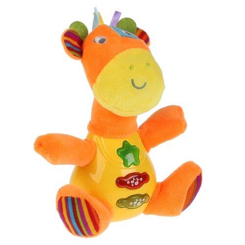 Купить Развивающая игрушка Умка Музыкальный жираф оранжевый/желтый, Развивающие игрушки